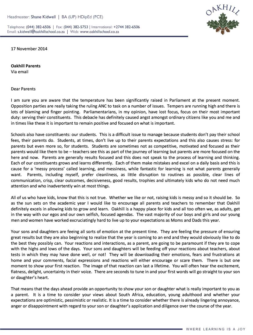 Headmasters-Letter-to-Parents_141117-1 Www Application Letter Co Za on cover letter, appreciation letter, resignation letter, business letter,