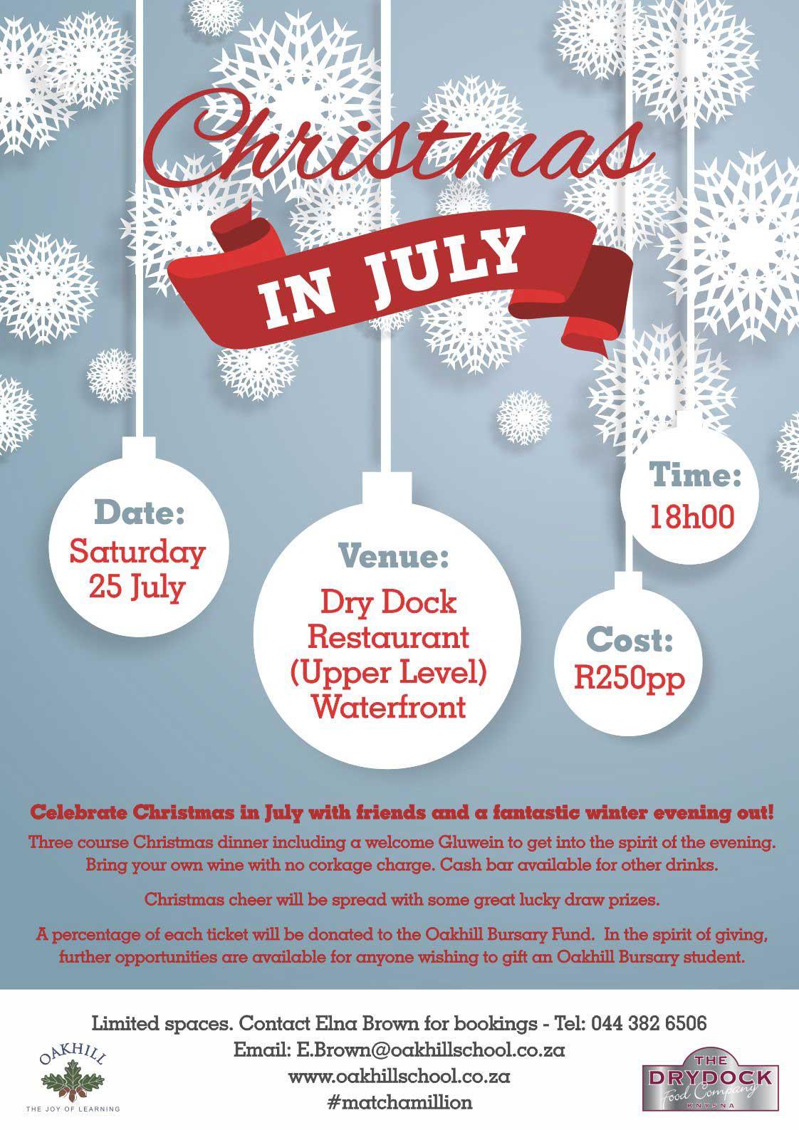 Christmas Restaurant Poster.Christmas In July