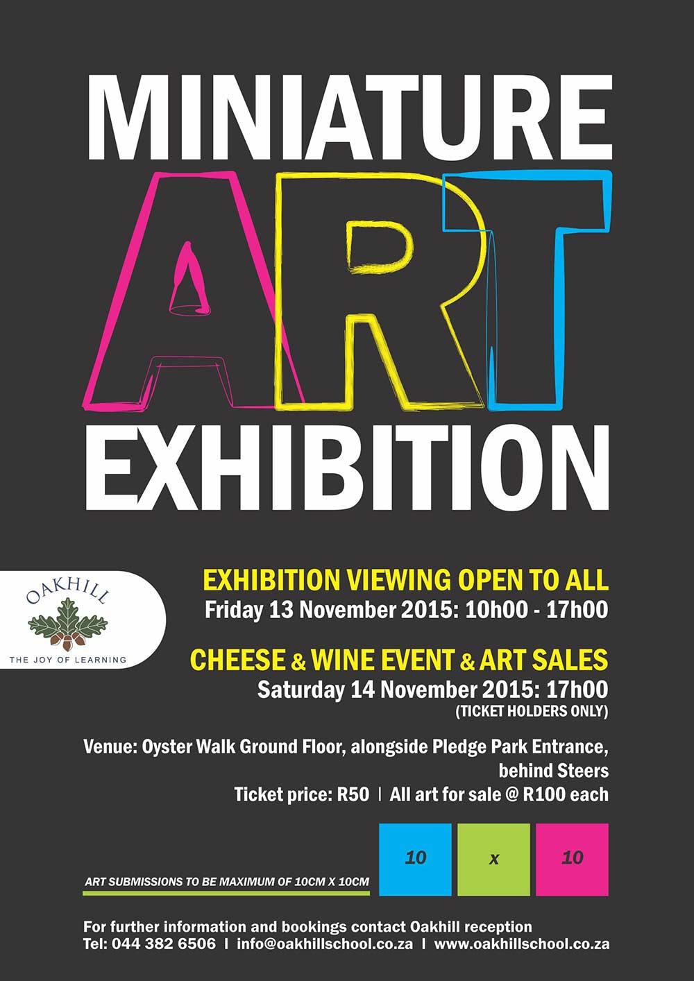 Exhibition Stand Poster Design : Miniature art exhibition