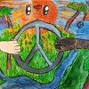 Jemima Wilcox-Jones artwork wins 3rd prize in the Lions International Peace Poster competition (Copy)