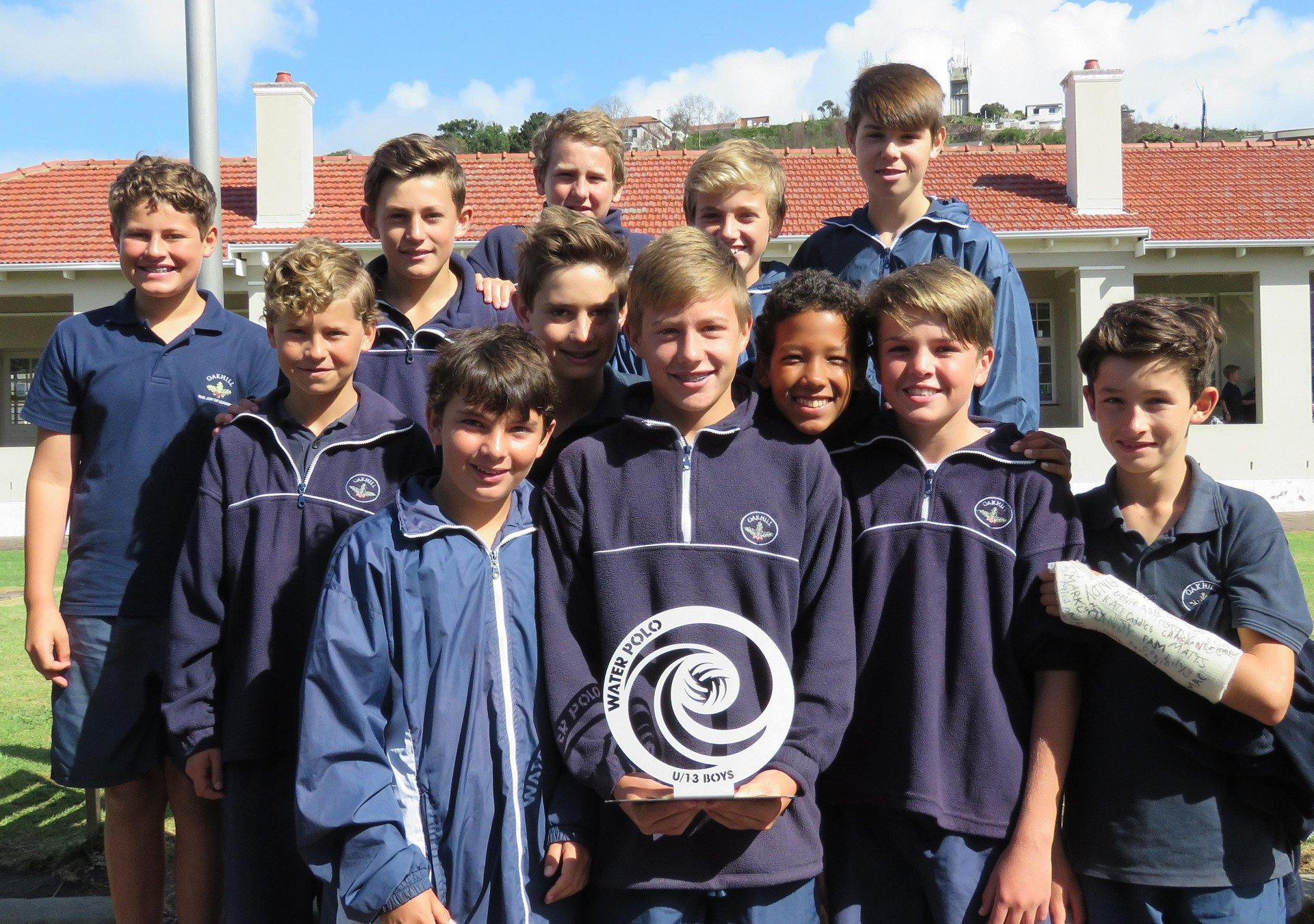 Oakhill U13A boys team win the SWD Water Polo League trophy