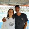 Aimee Canny and he coach Grant Ferguson at Junior Nationals 2018