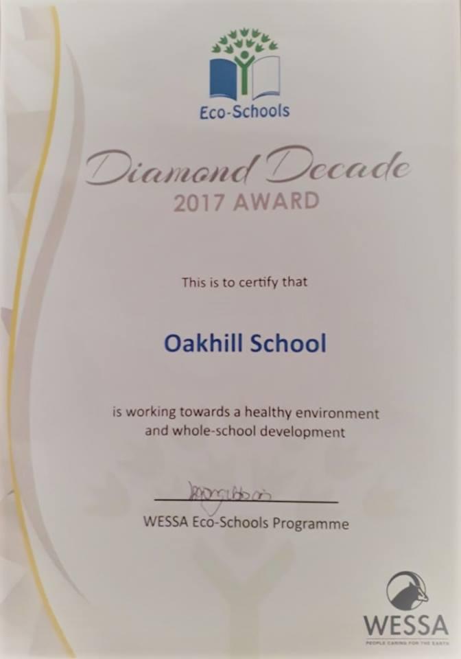 Eco-Schools Diamond Decade 2017 Award