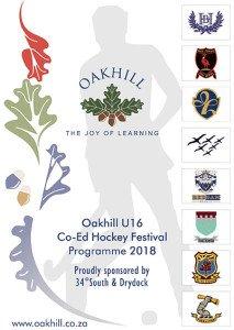 Oakhill U16 Co-Ed Hockey Festival 2018_Programme.cdr