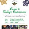 Grade 6 College Experience 2018 (Copy)