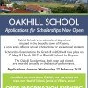 Oakhill Scholarship 2019