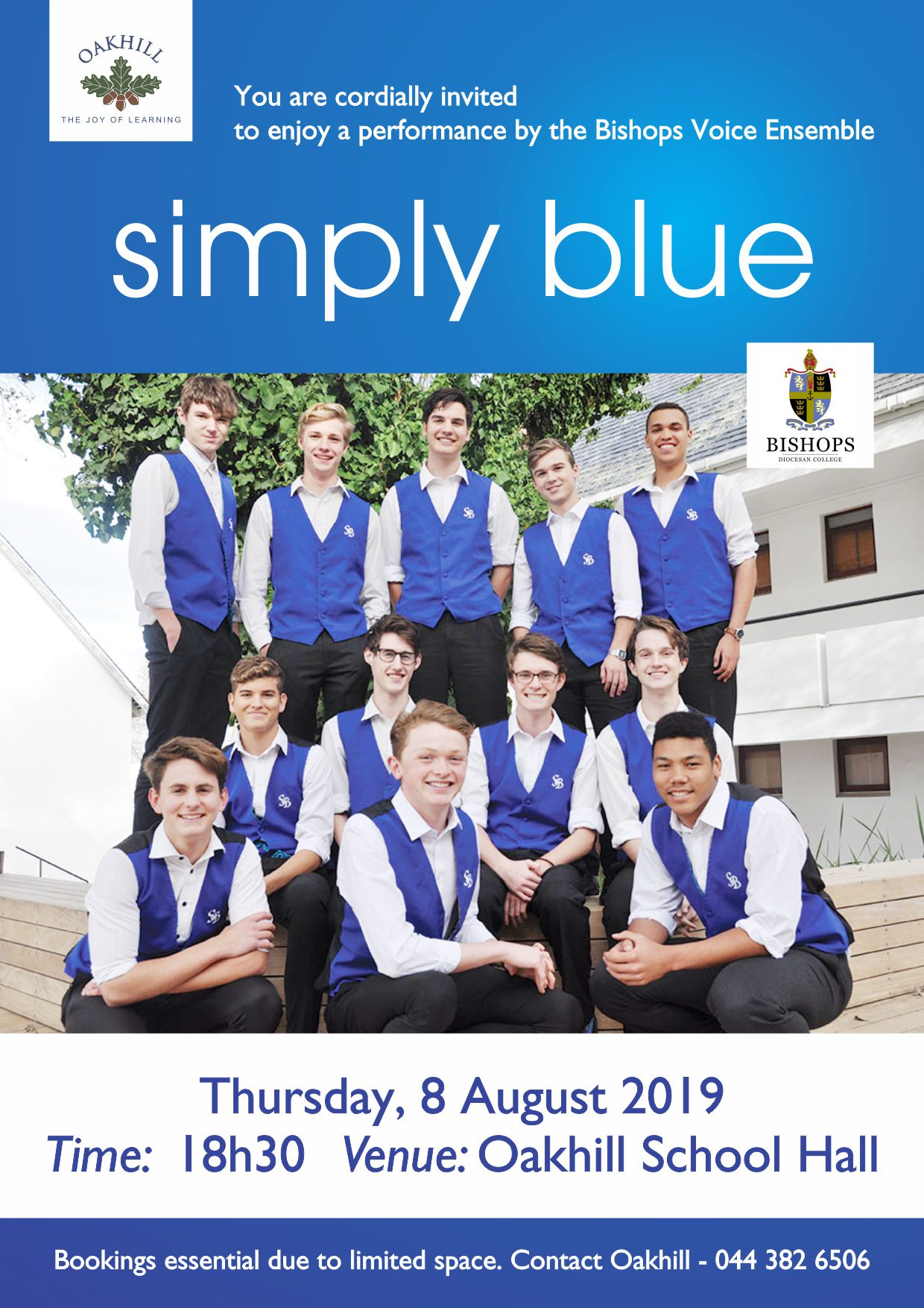 Bishops Simply Blue Invite