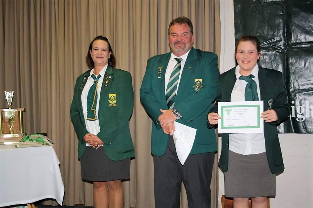 Oakhill school eden angling awards chanzelee viljoen