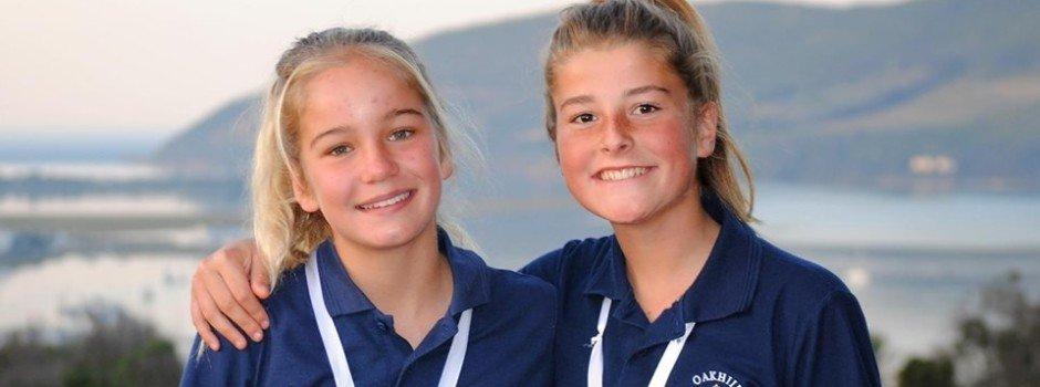Oakhill school netball knysna loeries amie jenner and cassidy winter
