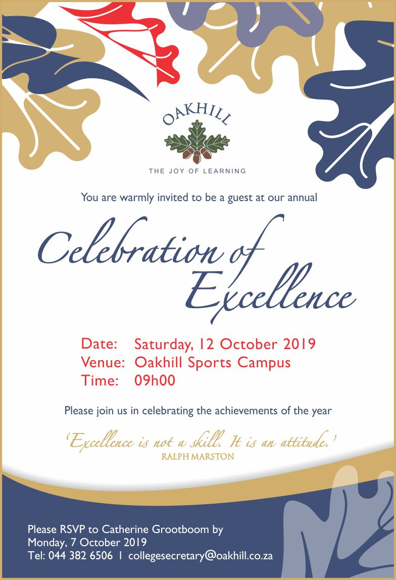 Invite College Celebration of Excellence 2019