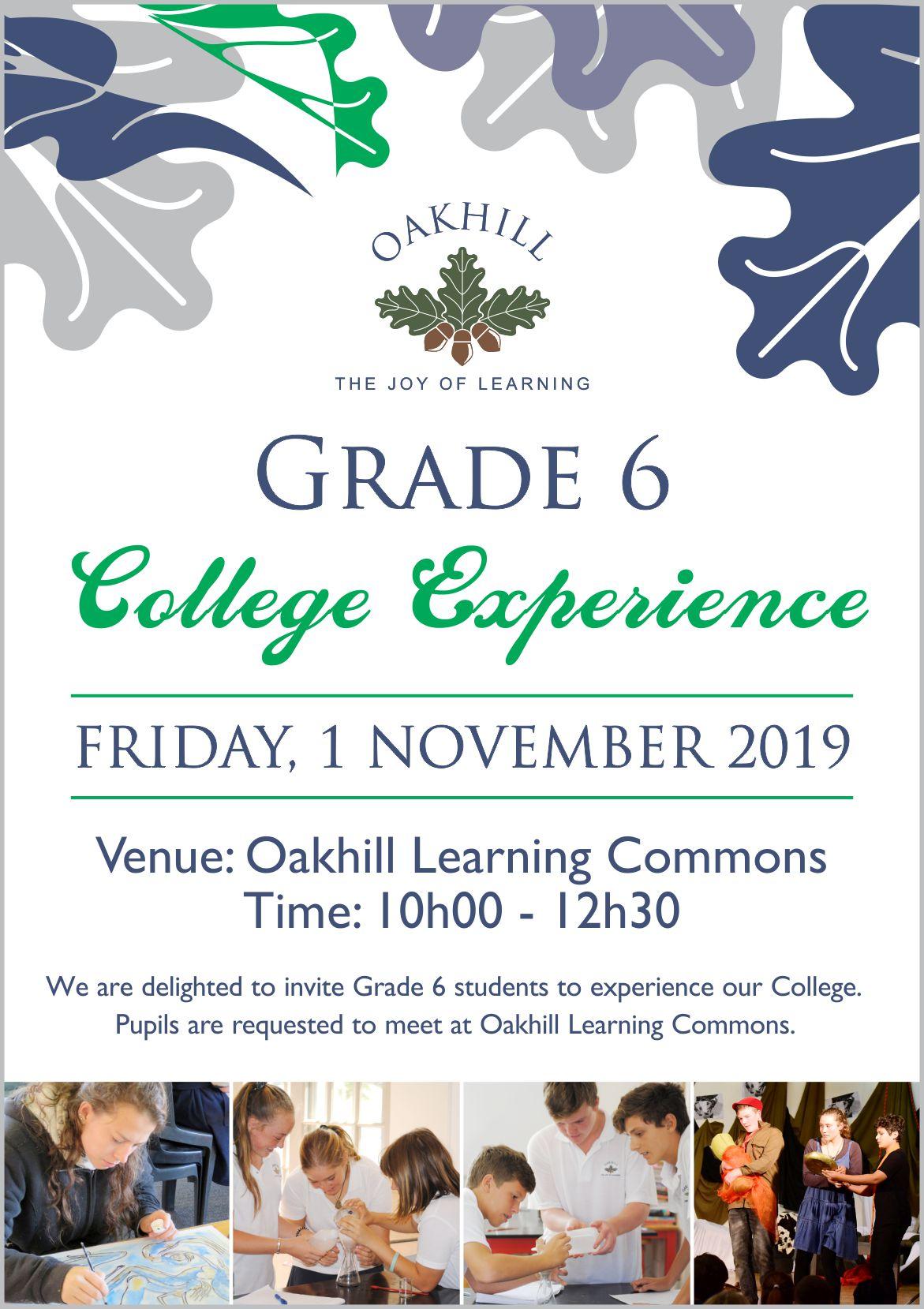 Grade 6 College Experience 2019